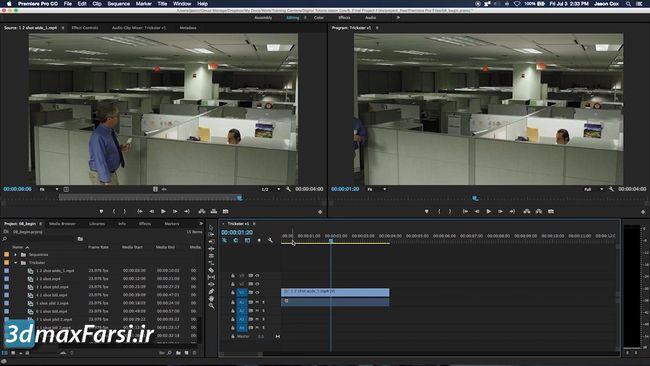 آموزش تایم لاین پریمیر پرو Premiere pro Timeline