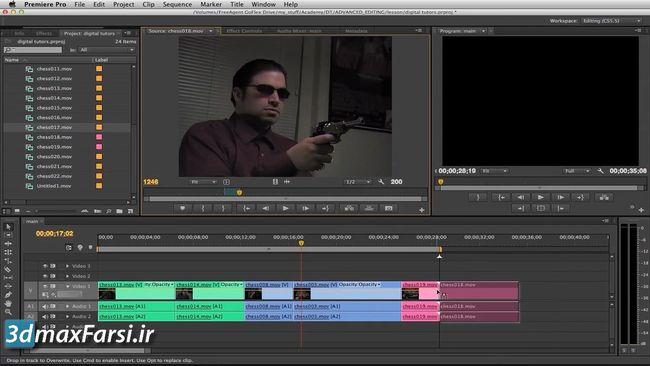 آموزش ساخت عناوین گرافیکی پریمیر پرو premiere pro Graphics Titler