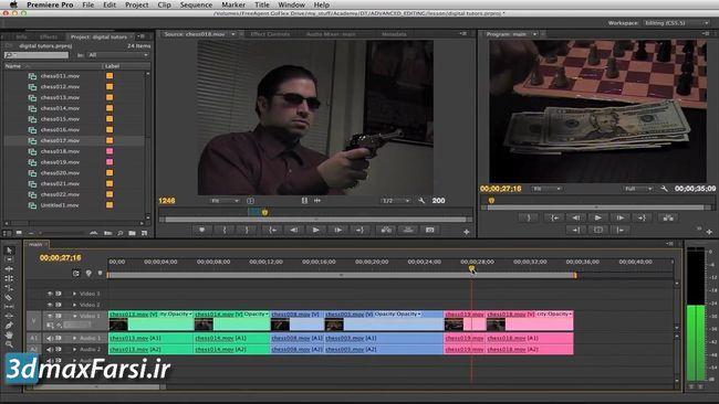 آموزش پریمیر پرو سی س premiere pro Comparing matching color corrections