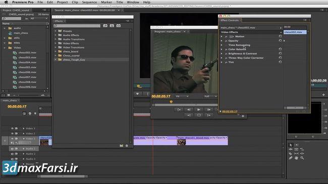 فیلم آموزش کالور کارکشن پریمیر پرو premiere pro Making color corrections using curves