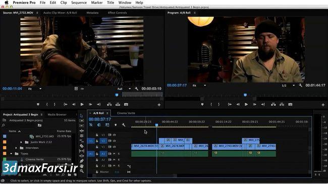 تغییر سرعت کلیپ پریمیر premiere pro change clip speed
