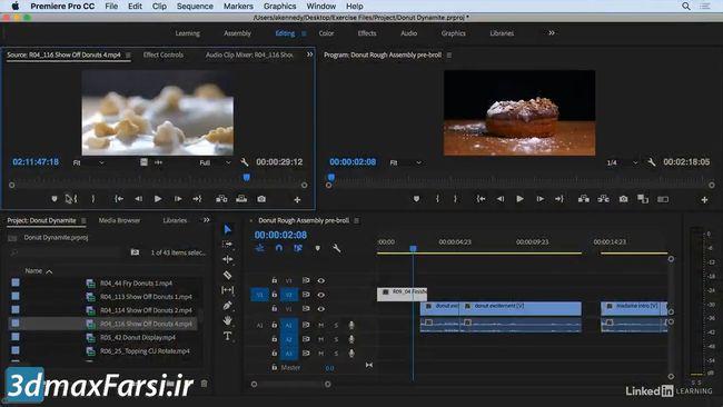 آموزش پریمیر پرو  premiere pro Multi camera editing refining