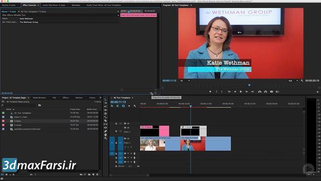 آموزش مدیا بروزر پریمیر پرو premiere Importing media Media Browser